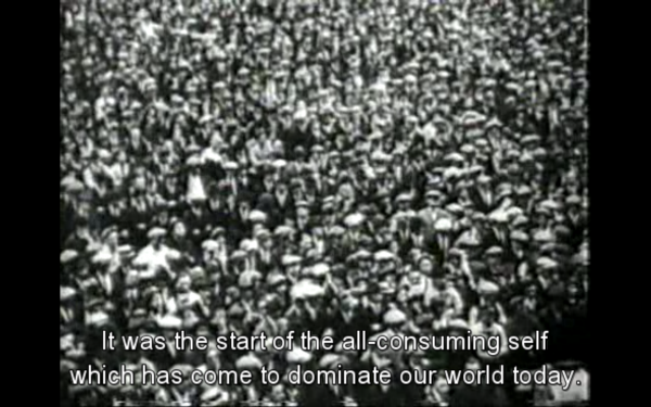 "Film still out of ""Century of the Self"" by Adam Curtis"